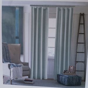 """Tommy Hilfiger Gray 96""""×100"""" solid window panels"""